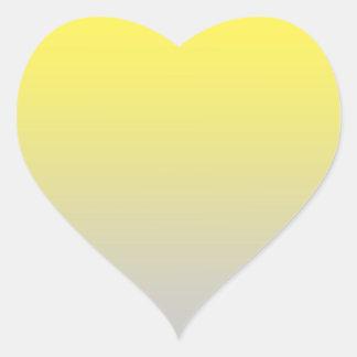 Yellow & Gray Ombre Heart Sticker