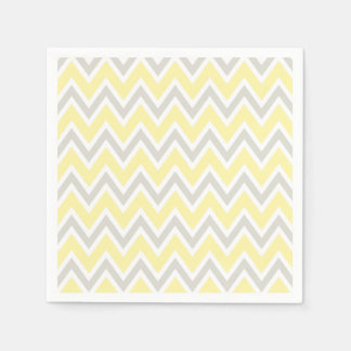 Yellow Gray Party Shower Wedding Napkins