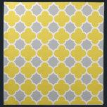 "Yellow &amp; Gray Quatrefoil Geometric Pattern Napkin<br><div class=""desc"">Modern yellow and grey quatrefoil design with a little bit of chevron pattern in yellow areas.</div>"