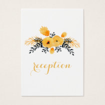 yellow gray watercolor floral reception invite