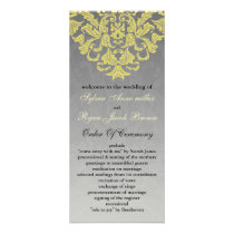 """yellow gray"" Wedding program"