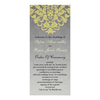 """yellow gray"" Wedding program"