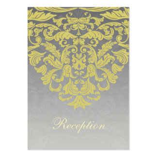 """""""yellow gray"""" wedding Reception Cards Large Business Cards (Pack Of 100)"""