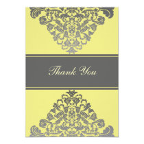 """yellow gray""  wedding ThankYou Cards"