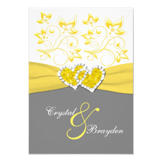 yellow_gray_white_joined_hearts_wedding_invite r4f7b9b1ef2c44b62a6f7e761c44d964d_zkrqe_324?rlvnet=1 yellow and gray wedding invitations & announcements zazzle,Yellow And Gray Invitations