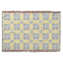 yellow gray winter holidays quilt pattern throw