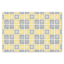 yellow gray winter holidays quilt pattern tissue paper