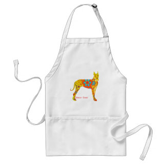 Yellow Great Dane Adult Apron
