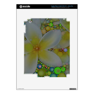 Yellow Green Abstract Flower iPad 3 Skins