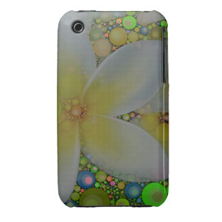 Yellow Green Abstract Flower iPhone 3 Cover