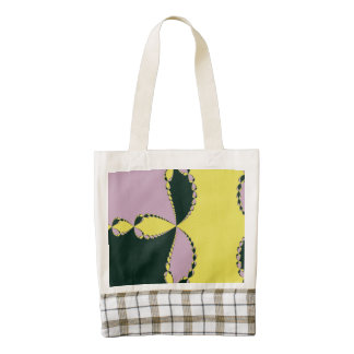 Yellow Green Abstract Zazzle HEART Tote Bag