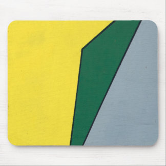 Yellow, Green and Grey Angles Mouse Pads