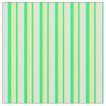 [ Thumbnail: Yellow, Green, and Light Cyan Colored Lines Fabric ]