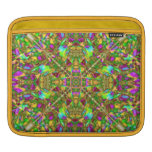 Yellow Green and Pink Mandala Pattern iPad Sleeve