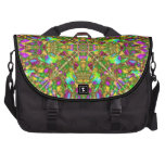 Yellow Green and Pink Mandala Pattern Laptop Bags