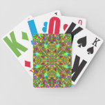 Yellow Green and Pink Mandala Pattern Deck Of Cards