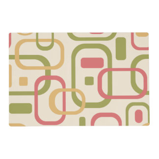 Yellow, green and pink rectangles placemat