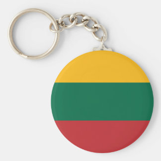 Yellow Green and Red Flag of Lithuania Keychain