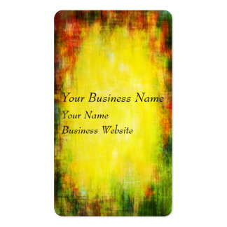 Yellow, green and red woven texture business card