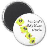 Yellow Green Baby Bird 2 Inch Round Magnet
