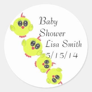 Yellow Green Baby Bird Classic Round Sticker