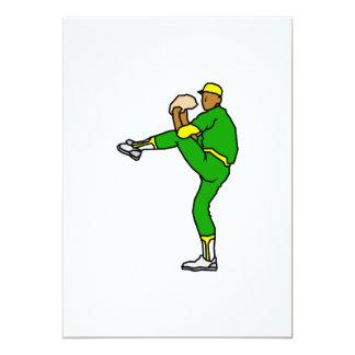 Yellow Green Baseball Player Card