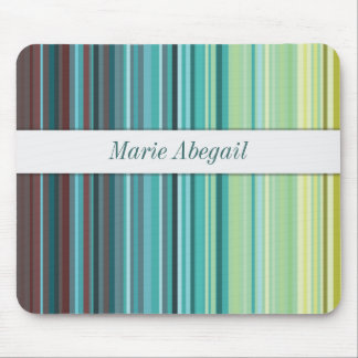 Yellow, Green, Blue and Brown Stripes mouse pad (p