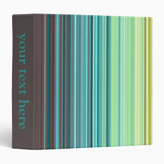Yellow, Green, Blue, Brown Stripes binder