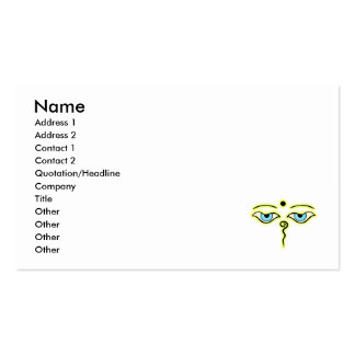 Yellow Green Buddha Eyes.png Business Cards