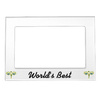 Yellow Green Buddha Eyes.png Magnetic Picture Frame