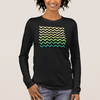 Yellow Green Chevron Long Sleeve T-Shirt