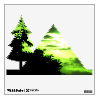 Yellow Green Clouded Sky Wall Decal