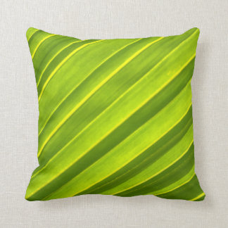 Yellow Green Coconut Leaf Elegant Gift Pillow