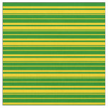 [ Thumbnail: Yellow & Green Colored Lines/Stripes Pattern Fabric ]