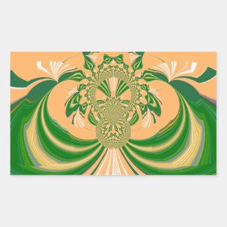 Yellow Green Design. Rectangular Sticker
