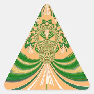 Yellow Green Design. Triangle Sticker