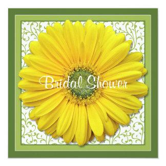 Yellow Green Gerber Daisy Bridal Shower Invitation