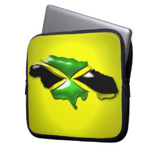 Yellow Green Gold Jamaica Laptop/Electronics Bag Laptop Computer Sleeves