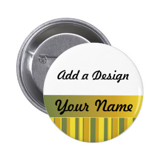 Yellow, Green, Gold Name Tag Template 2 Inch Round Button
