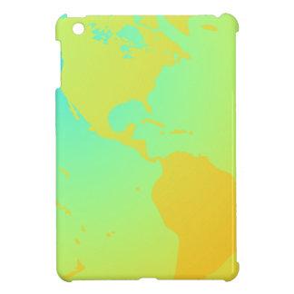 Yellow Green Gold Neon Globe iPad Mini Case