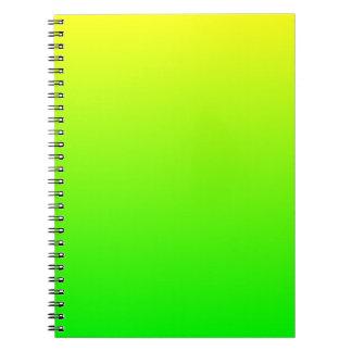 Yellow Green Gradient Spiral Notebook