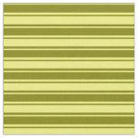 [ Thumbnail: Yellow & Green Lines Fabric ]
