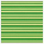 [ Thumbnail: Yellow & Green Lines/Stripes Pattern Fabric ]
