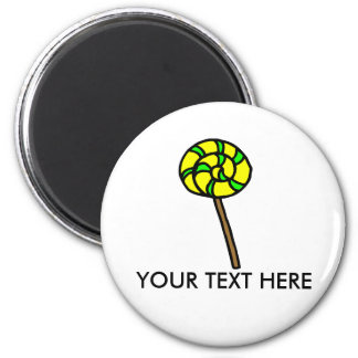 Yellow & Green lolly   magnet
