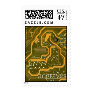 Yellow-green Motherboard First Class Stamp