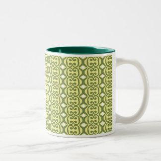 yellow green Mug