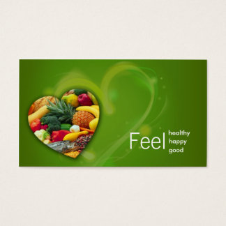 Yellow Green Nutritionist Fruit Heart Card