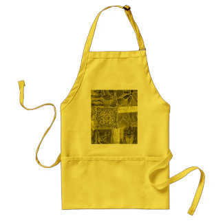 Yellow Green Patchwork Fabric Texture Aprons
