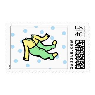 Yellow Green PJs Postage Stamps