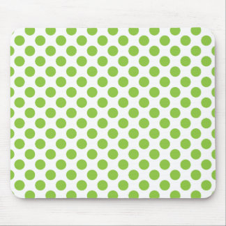 Yellow Green Polka Dots Mouse Pad